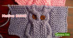 Tejido a dos agujas - Motivo BUHO. Como tejer motivo buho. Este precioso punto buho es facil de tejer y se puede emplearse en gorros, bufan...