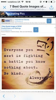 Be Kind, Always / Quotes Best Inspirational Quotes, Inspiring Quotes About Life, Great Quotes, Quotes To Live By, Me Quotes, Motivational Quotes, Funny Quotes, Inspiring Pictures, Quotes Images