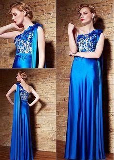 Alluring Malay & Transparent Net One Shoulder Neckline A-Line Sexy Prom Dresses