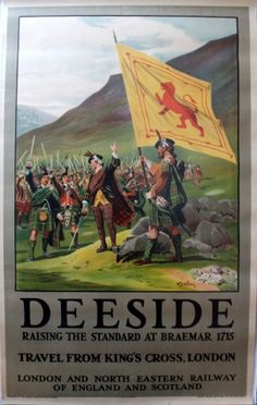 Deeside LNER Railway Wollen, 1920s - original vintage poster by William Barnes Wollen listed on AntikBar.co.uk