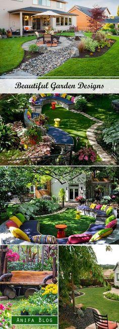 Find Ideas Of Garden Designs, Garden landscaping ideas. #decor #landscaping #garden #landscapegardenideas