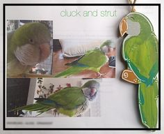 Custom Parrot Wood Ornament or Magnet,Personalized Parrot,Hand Made&Hand…