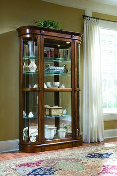Pulaski Salermo Wooder Curio Cabinet 21131 - Curios - Accessories by Dining Rooms Outlet