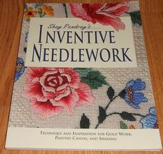 Shay Pendray's INVENTIVE NEEDLEWORK Techniques: Gold Work Painted Canvas Shading #KrausePublications #GoldWork
