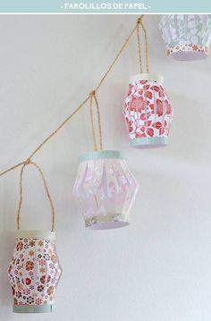 Tutoriales de guirnaldas de luces para alegrar los rincones de casa con un poco de luz y calidez.