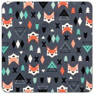Geometric Fox | Print PUL Fabric