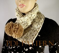KNITTING COWL PATTERN  Lara Cowl Scarf Pattern by LiliaCraftParty