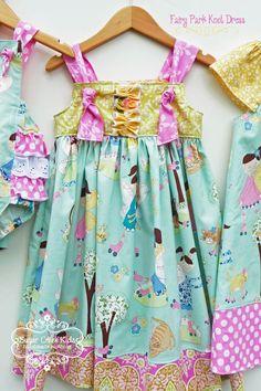 Fairy Park Knot Dress ......Handmade at Sugar Creek Kids Clothing. $44.00, via Etsy.