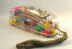 80′s see-through telephone
