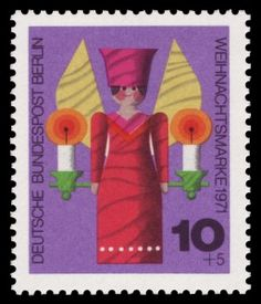 German stamp art; juvenile illustration; toys. 1960s.
