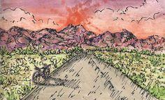 Vélo dans un désert - Couleur secondaire | Labo.D | Work by Yourself