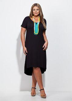 Fashion Plus Size - Large Size Womens Clothes, Tops & Dresses | Fashionable Plus Size Clothes - LAVINA DRESS - Virtu