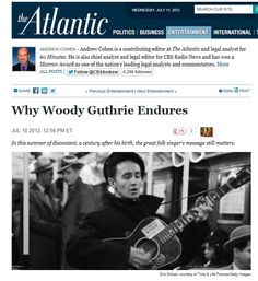 """The Atlantic: """"Everything about this piece of art is brilliant, from the music on the CDs, to the reprints of Guthrie's drawings, to the liner notes, to the narrative of Guthrie's life offered up by Robert Santelli."""""""