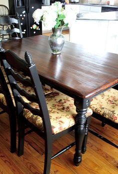 do it yourself divas: DIY: Stripping, Sanding, and Staining Walmart Furniture Repurposed Furniture, Home Furniture, Furniture Refinishing, Distressed Furniture, Painting Furniture, Garden Furniture, Furniture Ideas, Walmart Kitchen Chairs, Dining Room Table Chairs
