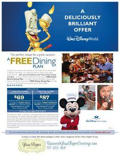 I book free dining at Walt Disney World Resort! Rosanne@GlassSlipperConcierge.com