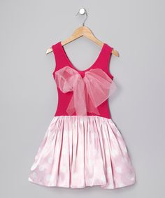 Take a look at this Hot Pink Lindsey Dress - Girls by fiveloaves twofish on #zulily today!