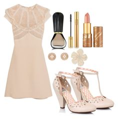 Outfit #1234 by ivanna1920 on Polyvore featuring polyvore fashion style Miu Miu Chanel Lanvin Yves Saint Laurent tarte Oribe clothing