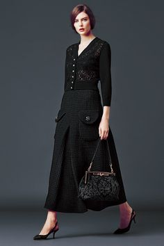 Lace Top Black / Dolce & Gabbana Woman's Apparel - Collection Fall Winter 2014 2015