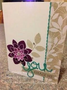 """Crazy Amazing You from my """"Crazy For You"""" Class which includes the """"Crazy About You"""" stamp set, """"Hello You"""" dies, and Irresistibly Yours Specialty Paper. Cute Cards, Diy Cards, Crazy About You, Hand Stamped Cards, Flower Patch, Card Tags, Paper Cards, Stamping Up, Flower Cards"""