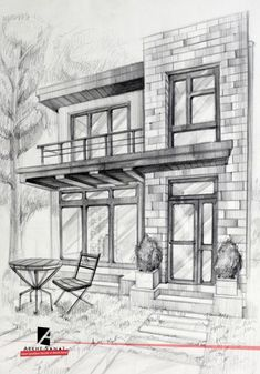 Interior Architecture Drawing, Architecture Drawing Sketchbooks, Interior Design Sketches, Architecture Design, Cool Art Drawings, Pencil Art Drawings, Art Drawings Sketches, Perspective Drawing Lessons, Perspective Sketch