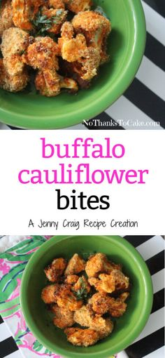 Jenny Craig Recipe Creation: Buffalo Cauliflower Bites