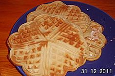 Oma´s Waffeln. And yes, 12 eggs is apparently right...
