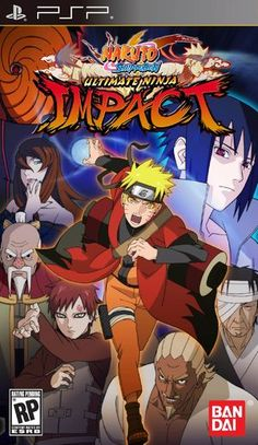 Naruto Shippuden - Ultimate Ninja Impact Rom Game for PSP Naruto Sd, Naruto Games, Naruto Shippuden, Playstation Portable, Playstation Games, Cry Anime, Anime Art, Guerra Ninja, Ninja 2