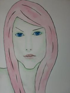 Portrair Eileen, 50x70cm aquarel/watercolor by Tanja Kooymans