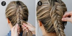 Inverted Fishtail Braid: Step by Step