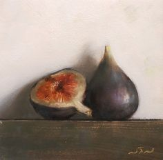 Original Oil Painting - Figs - Contemporary Still Life Art - Nelson