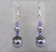Perle lavande avec toupie Violet boucles par MoYuenCreations