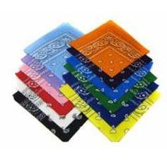 12 Color Pack Double Sided Print Paisley Bandana Scarf | All | Bandana Store