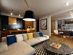 Contemporary living space in Warsaw