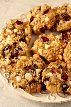cranberry white chocolate oatmeal cookies 5 682x1024 Cranberry White Chocolate Oatmeal Cookies Recipe