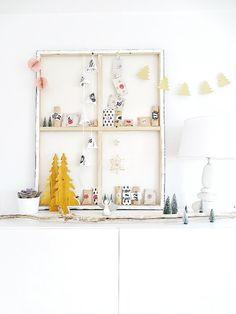 """Auf der """"mammilade""""_n-Seite des Lebens, Adventskalender im Keilrahmen, Advent, Kalender, Weihnachten"""