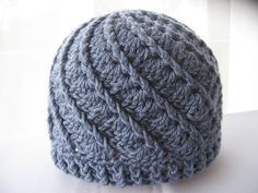 """""""Divine Hat"""" Love the spiral effect on this hat: Link to free adult and preemie size pattern @ Rheatheylia!"""