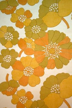 Original retro wallpaper & vinyl wallcovering from the sixties & seventies - A unique collection of original 1950's to 1980's wallpapers for sale! Oh my I think we had furniture this print in Belgium !!