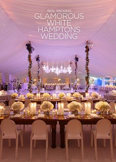 This glamorous white wedding created by the Colin Cowie Celebrations team is probably the most fabulous all white wedding we've seen! Click to view. Reception, Wedding Tent