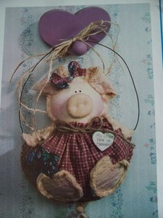 Craft Sewing Pattern Penny Pig 1992 OOP Needle in a by LindaHarvey, $3.99