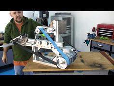 belt grinder - YouTube