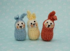 Bean bunnies - free pattern
