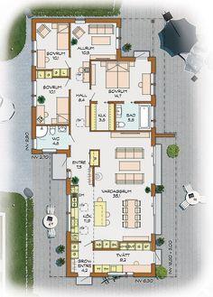 Sverigehus GmbH - Real Sweden Houses à Stuttgart, dans le Bade-Wurtemberg et . Dream House Plans, Small House Plans, House Floor Plans, Bungalows, Sweden House, Cottage Plan, Sims 4 Houses, Luxury Estate, House Drawing