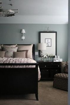 Browns and creams against Benjamin Moore 'Beach Glass' by kristie