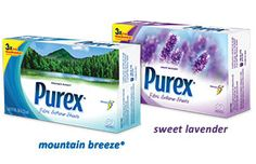 Sponsored: Review & Giveaway (ends 8.2.2013) of Purex Fabric Softener sheets