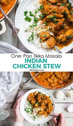 This one-pan Indian chicken tikka masala is sure to put your favorite take-out joint out of business. A delicious recipe for a busy weeknight dinner. One Pan Chicken, Indian Chicken, Indian Food Recipes, Ethnic Recipes, Chicken Tikka Masala, Easy Weeknight Dinners, Indian Dishes, World Recipes, Chicken Seasoning