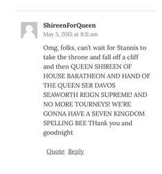 #WesterosSpellingBee #GameofThrones