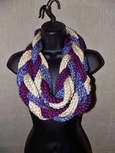 Braided Infinity Scarf  Purple Lavender by TheLittleBarntique