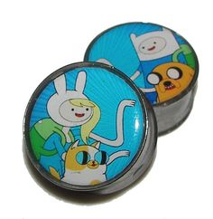 Hey, I found this really awesome Etsy listing at http://www.etsy.com/listing/156207684/fionna-and-cake-with-finn-and-jake-plugs