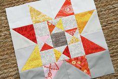 Automne étoile bloc d'édredon Tutorial par citrons frais Quilts: Faith