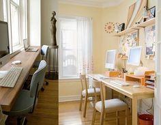 I like this window ledge desk.